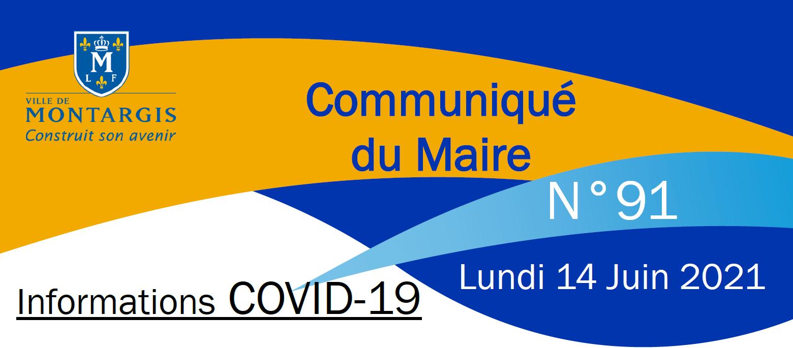 COMMUNICATION 91 DU MAIRE CORONAVIRUS COVID 19