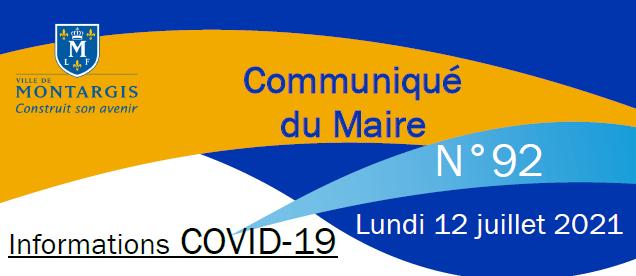 COMMUNICATION 92 DU MAIRE CORONAVIRUS COVID 19