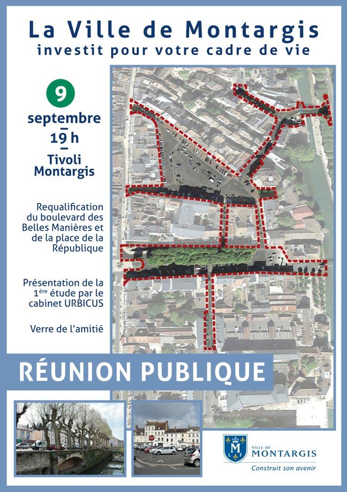 REUNION PUBLIQUE REQUALIFICATION DU BOULEVARD DES BELLES MANIERES ET DE LA PLACE DE LA REPUBLIQUE