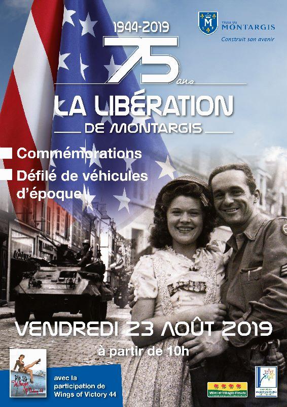 75ème  ANNIVERSAIRE DE LA LIBERATION DE MONTARGIS